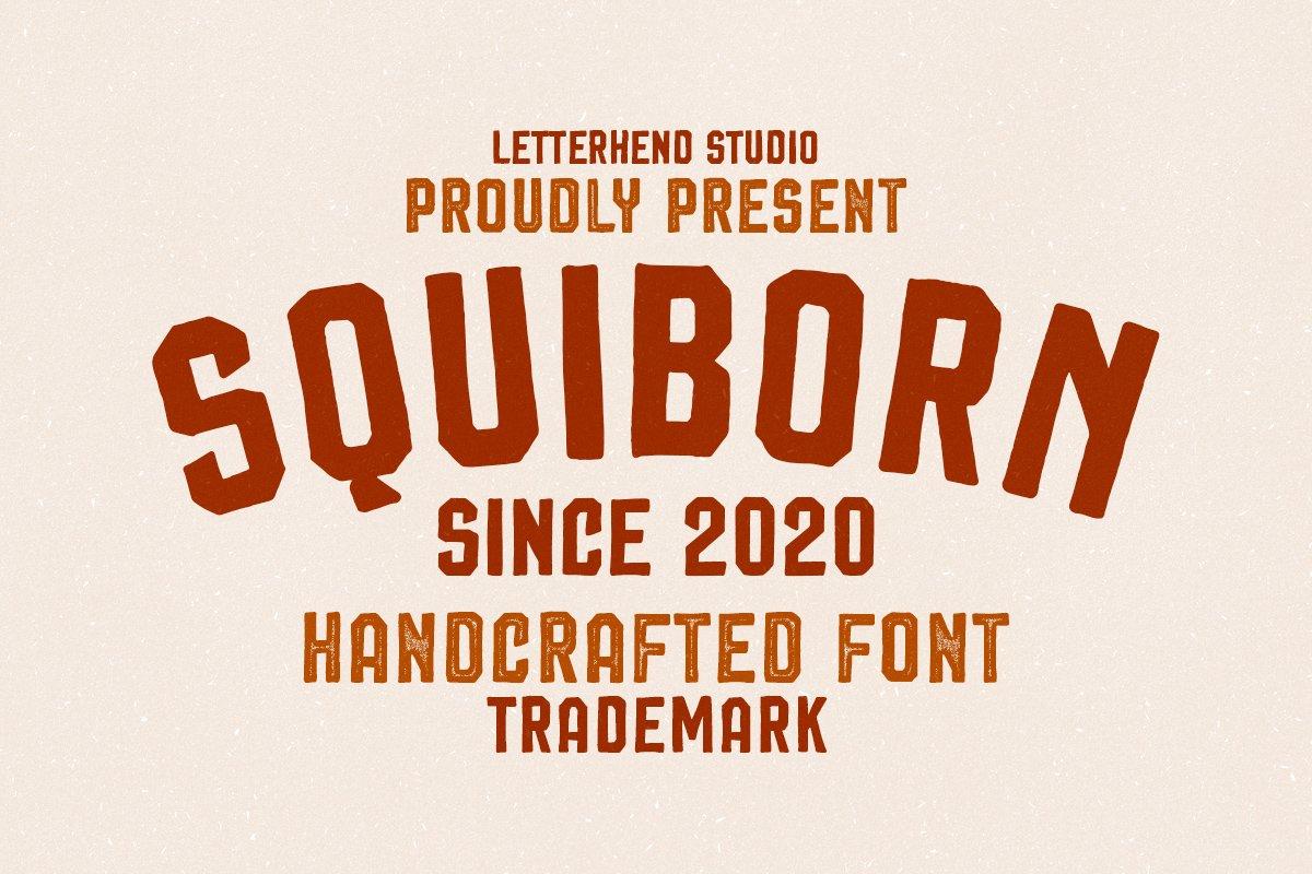 Squiborn - Logo Font