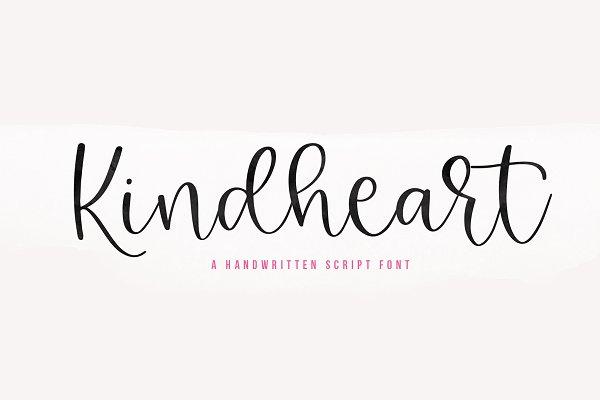 Kindheart | Handwritten Script Font