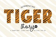 TIGER STORY Color Font Duo