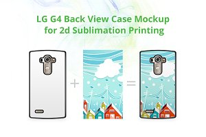 LG G4 2d Case Back Mock-up