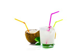 Pinacolada drink with  mint leaf