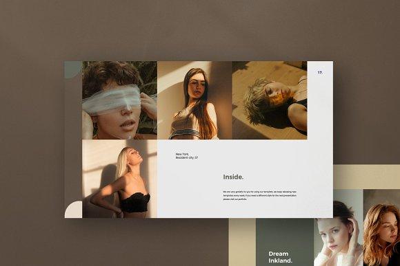 Portfolio Lookbook - Google Slide in Google Slides Templates - product preview 1