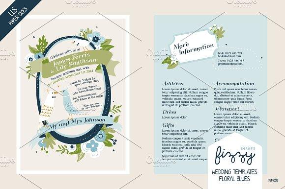 28 x U.S. size Wedding Templates - Invitations