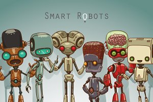Smart Robots bundle, vector