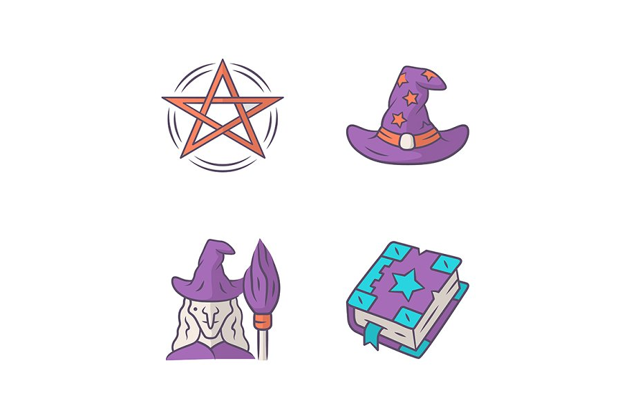 Magic color icons set in Icons