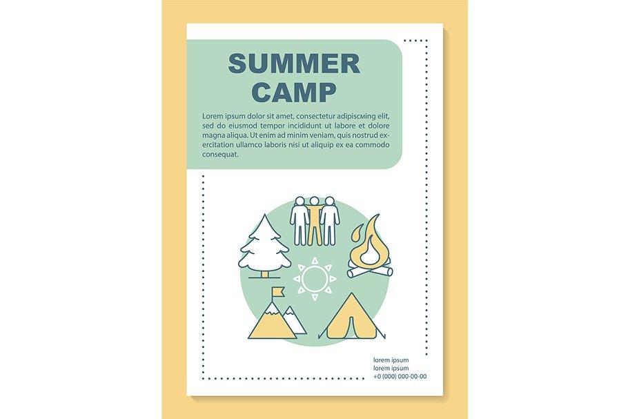 Outdoor adventure camp, vacation