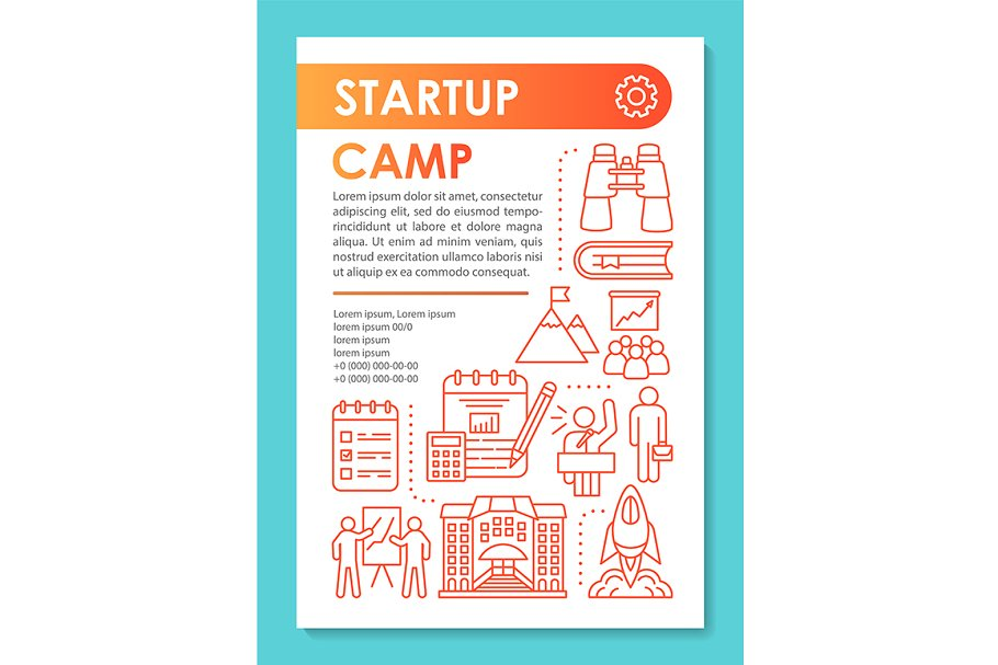 Startup camp brochure template