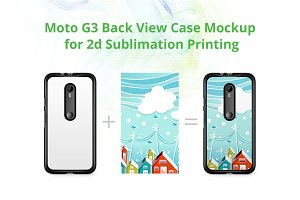 Moto G3 2d Case Back Mock-up