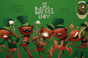 St. Catricks day bundle, vector