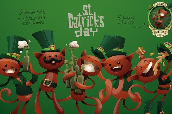 St. Catricks day bundle, vector - Illustrations