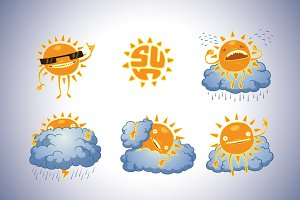 Sun bundle, vector