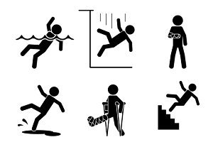 Safety and accident icons
