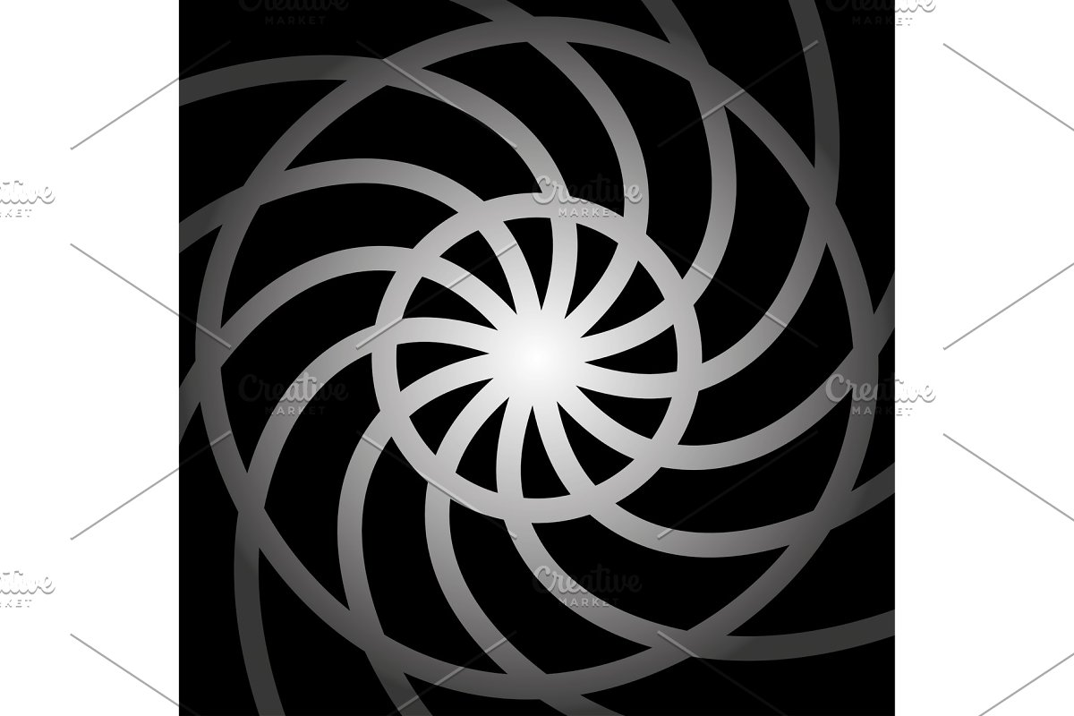 Round shapes swirl design template