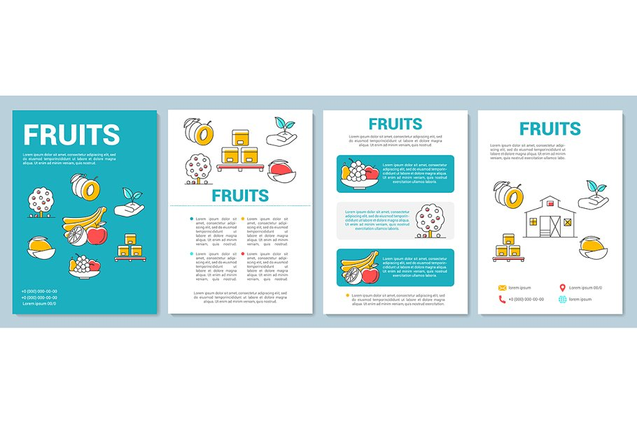 Fruit production template layout