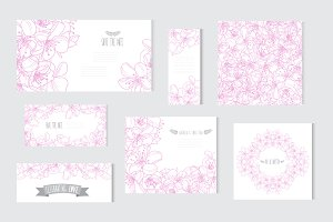 Pink Cherry Blossom Cards