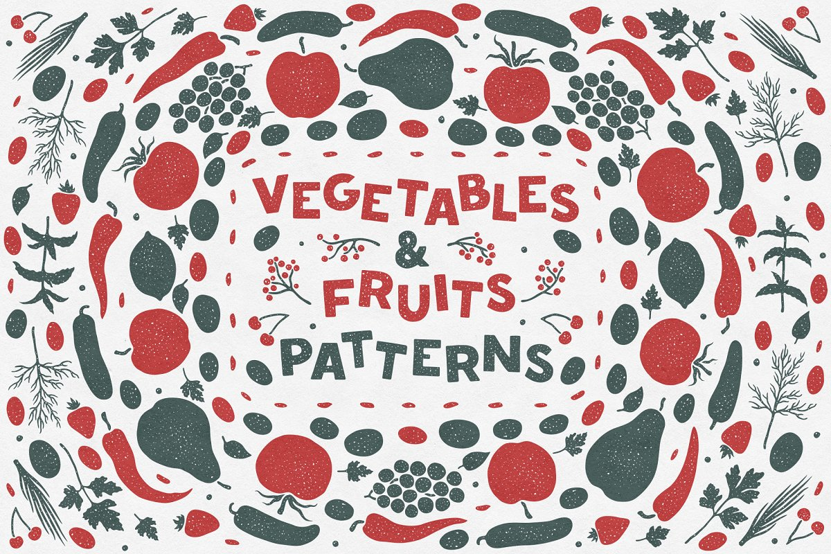 Vegetables & Fruits Patterns