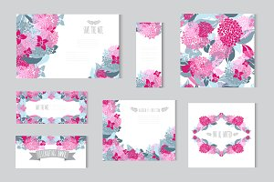 Hydrangea Floral Cards