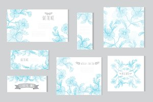 Blue Cornflowers Card Templates