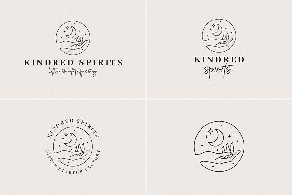 24 Celestial Logo Templates Pack