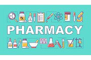 Pharmacy word concepts banner