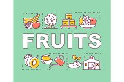 Fruits word concepts banner