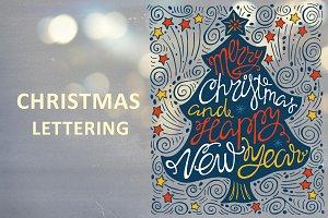Christmas lettering.