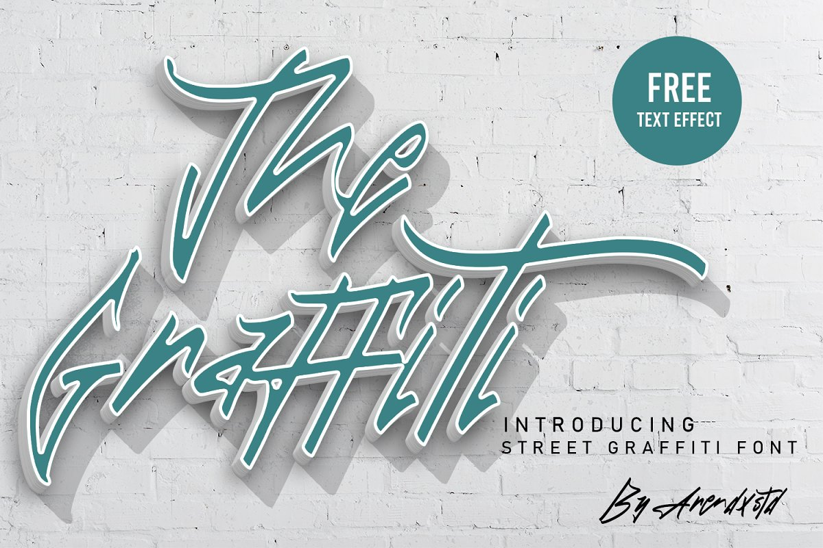 The Graffiti Font | Free Text Effect