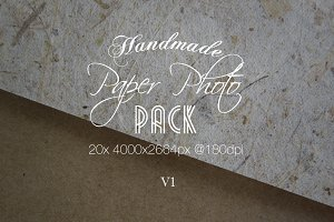 Handmade Paper Photo Pack V1