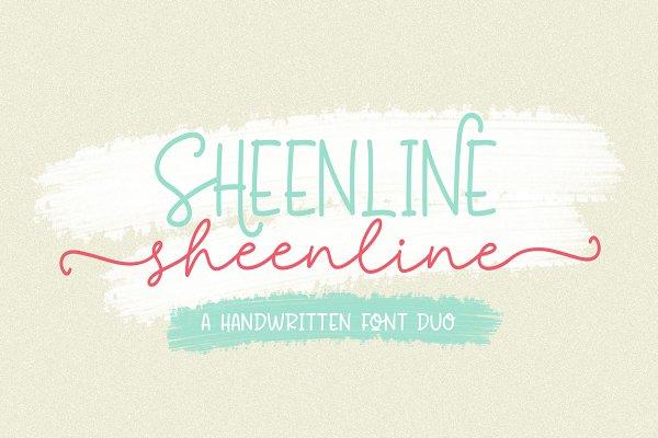 Discount 50% - Sheenline Font Duo