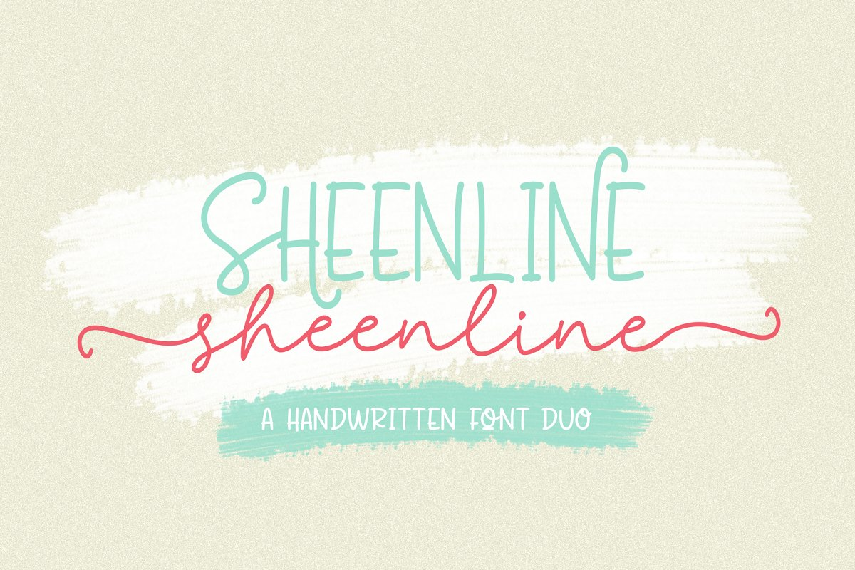 Discount 50% - Sheenline Font Duo in Script Fonts - product preview 8
