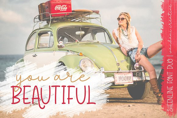 Discount 50% - Sheenline Font Duo in Script Fonts - product preview 3