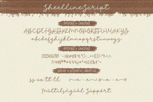 Discount 50% - Sheenline Font Duo in Script Fonts - product preview 6