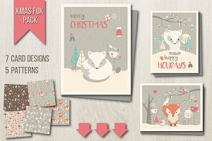 Xmas Fox Pack ► Cards + Patterns