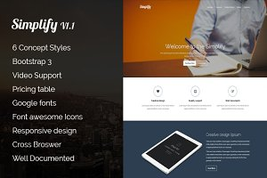 Simplify | Responsive landing page