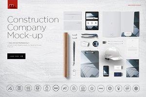 Construction Company Branding Mockup