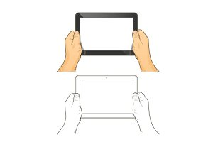 Tablet pc in hands