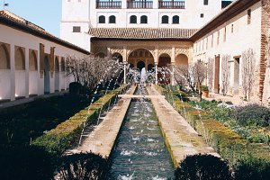courtyard of generalife, alhambra