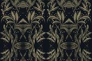 Stylized Ornate Nature Motif Seamles