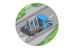 Car carry window