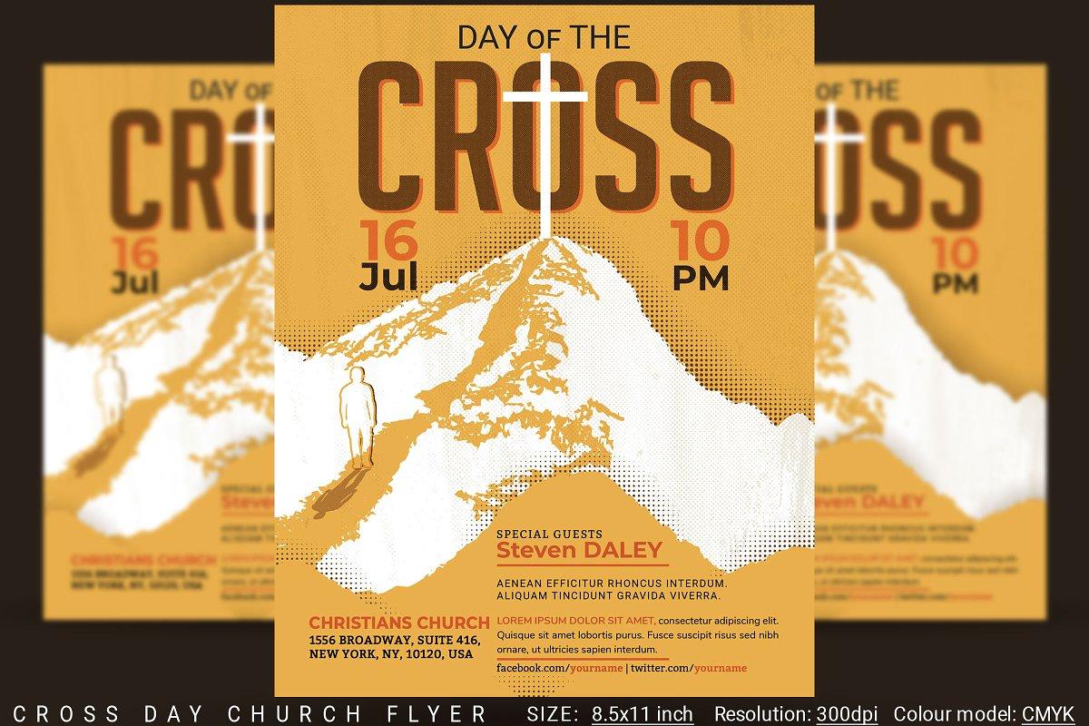 Cross Day Church Flyer