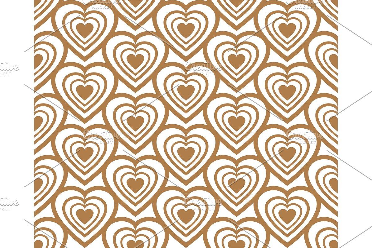 Golden heart icon seamless