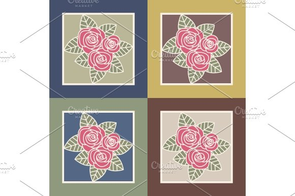 Bunch of roses in Illustrations