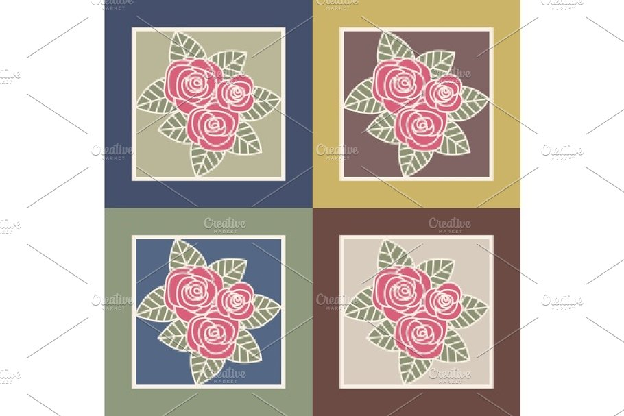 Bunch of roses in Illustrations - product preview 8
