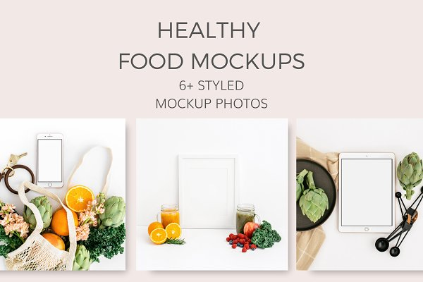 Healthy Foods Mockups (6+ Images)