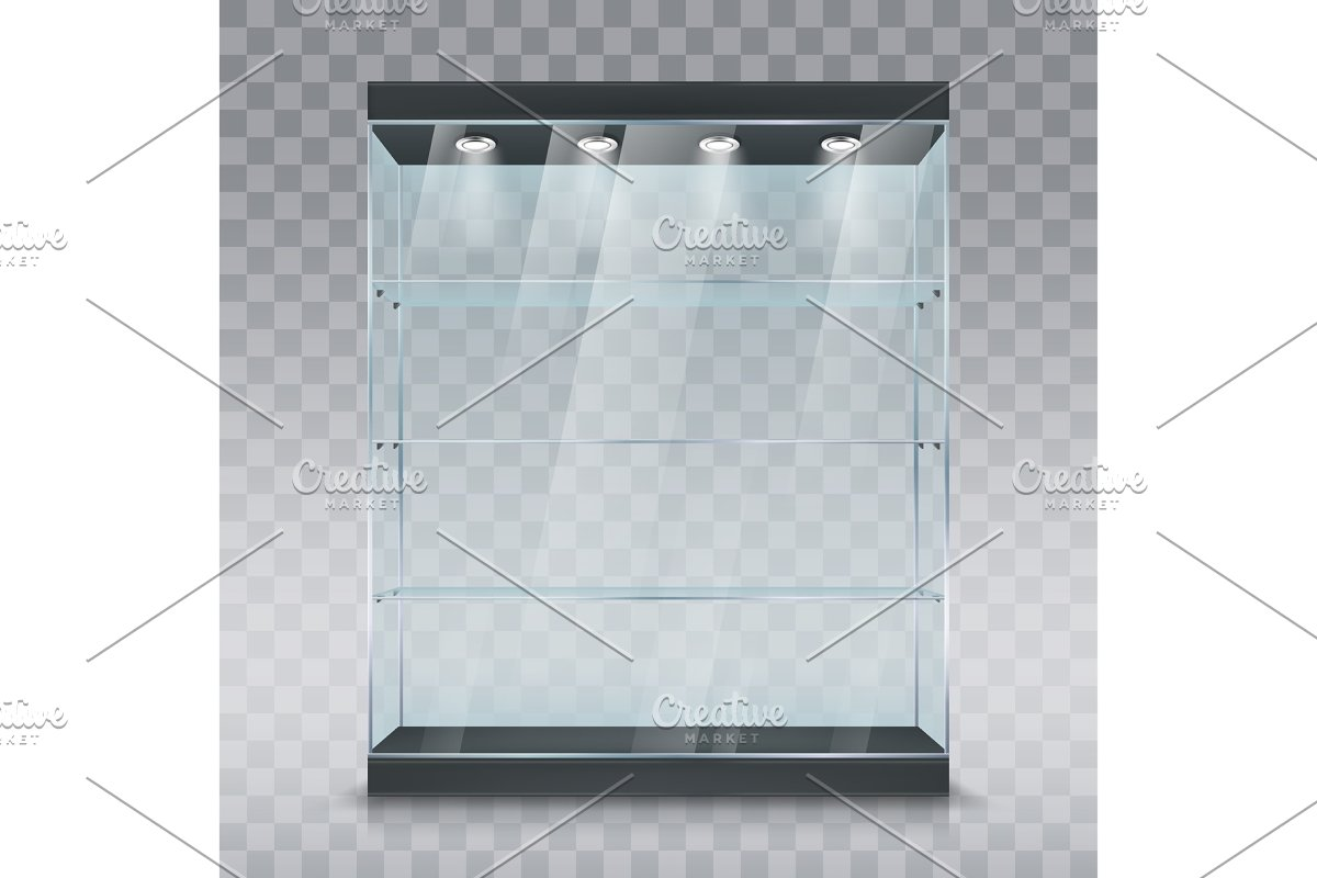 Glass showcase display cabinet