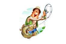 Fisherman and fish