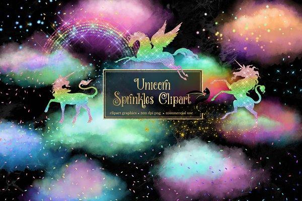 Unicorn Sprinkles Clip Art