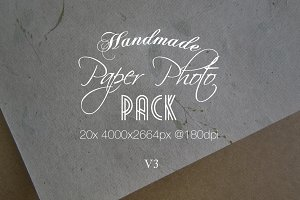 Handmade Paper Photo Pack V3