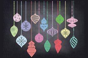 Chalkboard ChristmasOrnamentsClipArt
