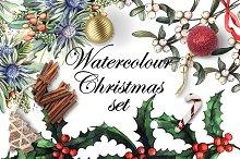 Watercolour Christmas set